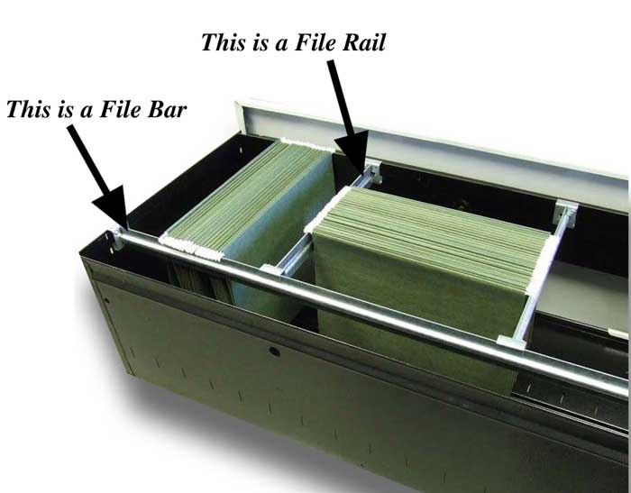 filing cabinet rails file bar or file rail filebars 15403